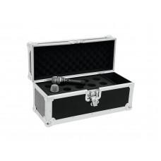 Flight case nero borsa per 10 microfoni in legno