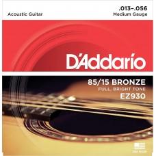 Muta corde chitarra acustica  D'ADDARIO EZ-930  Medium Gauge 013-056