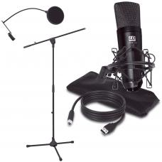 LD SYSTEMS PODCAST 2   microfono a condensatore da studio USB