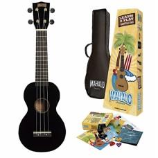 Chitarra Ukulele Nero  +  kit accessori Mahalo