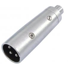 Adattatore XLR maschio - RCA pin femmina in metallo