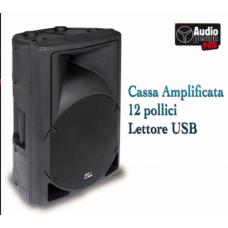 Cassa attiva Monitor PAX 12 pollici con lettore USB Audio Design 360 watt