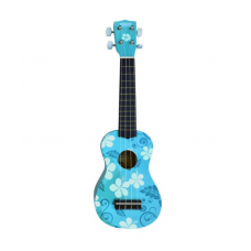 KIT Chitarra Ukulele  Flower  turchese + custodia
