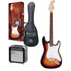 Kit chitarra elettrica 3/4  + amplificatore accordatore e accessori SX sunburst