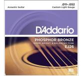 Muta corde chitarra acustica D'Addario EJ26 Phosphor bronze 011 - 052 light