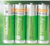 Blister 4 batteria 1,5 V  stilo AA  alta potenza  alcalina LR06