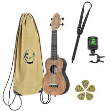 KIT  Ukulele  soprano MANCINO natural + accessori e borsa KEIKI  K3-SPM-L Ortega