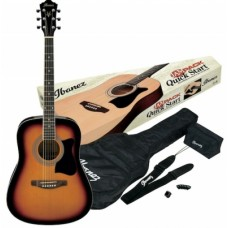 Kit Chitarra acustica  Ibanez V50NJP -VS + custodia e accessori