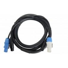 Cavo combinato corrente segnale  DMX-Powercon  2,5 mt