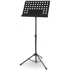 LEGGIO Stand  Orchestra IN METALLO NERO Pianale Forato e Ferma -Spartiti