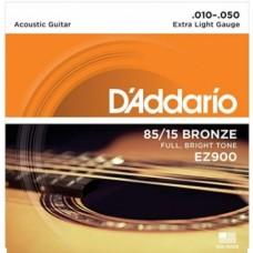 Muta corde chitarra acustica  D'ADDARIO EZ-900 extra Light 010-050