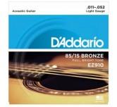 Muta corde chitarra acustica  D'ADDARIO EZ-910 Light 011-052