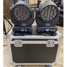 Kit 2 teste mobili Beam amazing 18 x 12 watt led OSRAM + flight case