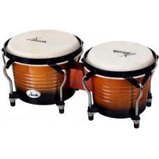 Bonghi bongo tamburo percussioni a mano in legno XDrum Bongo pro vintage sunburst