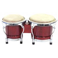 "bongo bonghi in legno  4"" + 5"" Rosso  BG- 45 Dimavery"