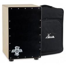 Cajon percussione batteria battente in black wood XDrum Cajon Peruana  CP-481 con borsa