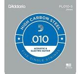 Corda singola PL010-5 D'addario in acciaio  Set 5 corde per chitarra elettrica acustica