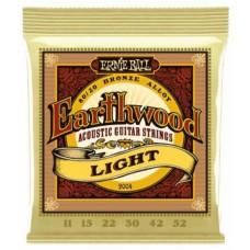 Muta corde chitarra Acustica Ernie Ball 2004  Earthwood  80/20 Bronze 11- 52  Light