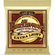 Muta corde chitarra Acustica Ernie Ball 2006 Earthwood  80/20 Bronze 10 -50 Extra light