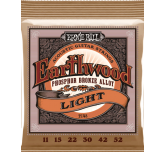 Muta corde chitarra Acustica Ernie Ball 2148 Earthwood  Light phospor bronze alloy 11 - 52
