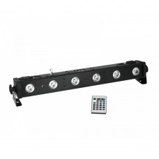Led bar 650 rgb+uv con telecomando 6x5watt EUROLITE