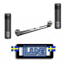 Kit stereo Microfoni  condensatore Studio CM4  Line Audio Svezia + barra MS stb 01