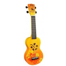 KIT  Chitarra  Ukulele  soprano   MAHALO arancione sunburst