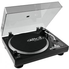 Piatto DJ Giradischi per LP trazione a cinghia USB Line Phono Omnitronic BD-1390 USB