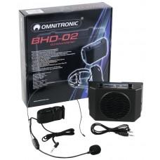 Amplificatore a cintura  con altoparlante + Microfono Headset Omnitronic BHD-020
