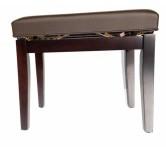 Panca  per pianoforte o tastiera colore rosewood satinato marrone scuro