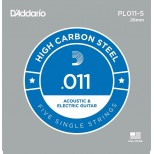 Corda singola PL011-5 D'addario in acciaio  Set 5 corde per chitarra elettrica acustica