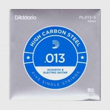 Corda singola PL013-5 D'addario in acciaio  Set 5 corde per chitarra elettrica acustica