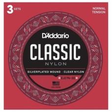3 Set D'addario EJ27N student Nylon, normal Tension   per chitarra classica