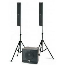 Sistema stereo audio sub + satelliti line array audio design trio la6/10 usato