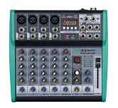Mixer compatto 6 canali con Bluetooth USB MP3 Karaoke  Studio ZZMXBT6