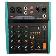 Mixer compatto 4 canali con Bluetooth USB MP3  Effetti ZZiPP  ZZMXBTR4